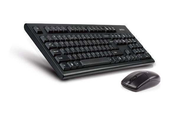 A4Tech 2.4G 3100N Wireless Desktop Keyboard with Mouse in Pakistan