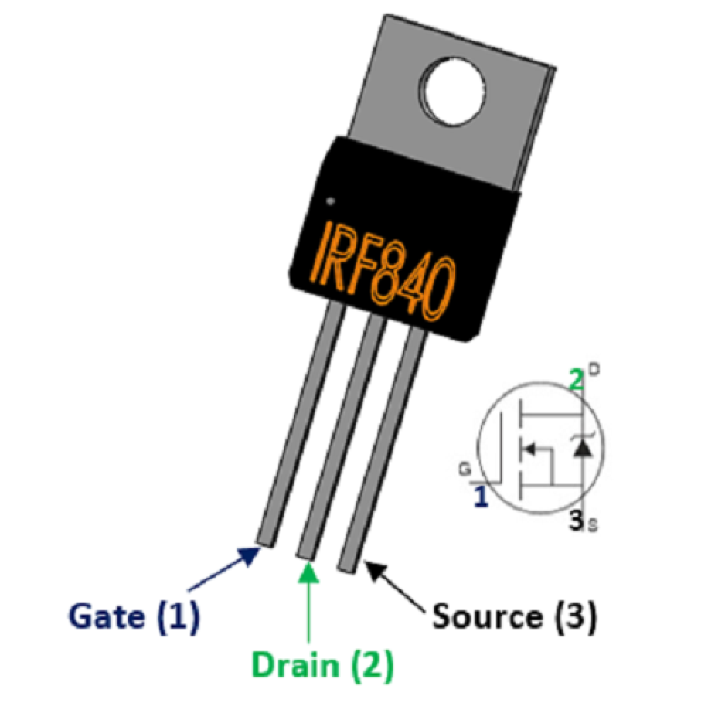 IRF840 N-channel 8A 500V Power MOSFET