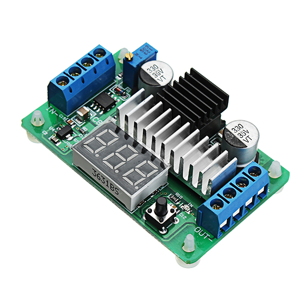 LTC1871 DC-DC 3.5-30V 6A 100W Adjustable High Power Boost Power Module Step Up Board Converter 2 Way Display LED Voltmeter