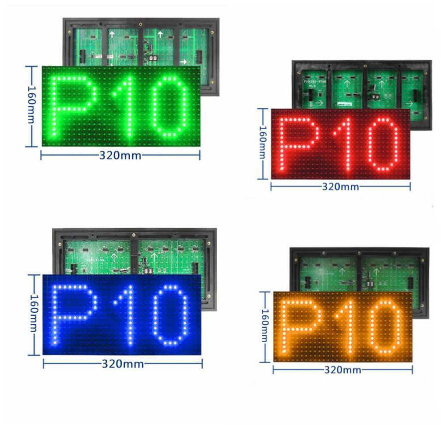 Red Color Semi Outdoor P10 SMD LED Panel Display