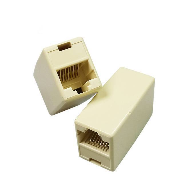 RJ45 Female to Female Network LAN Connector Adapter Coupler Extender RJ45 Ethernet Cable Join Extension Converter Coupler in pakistan