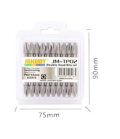 JAKEMY JM-TP03 Double Head Bits Set Screwdriver [PZ2 65mm / 10pcs]