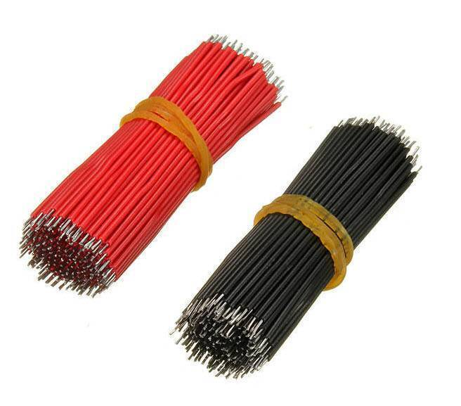 Vero Board Breadboard Jumper Cable Dupont Wire Electronic Wires Black Red Color