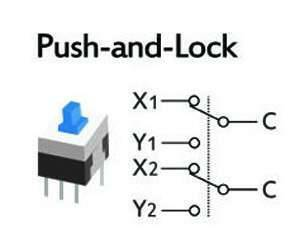 6 Pin Push Lock Button 7X7