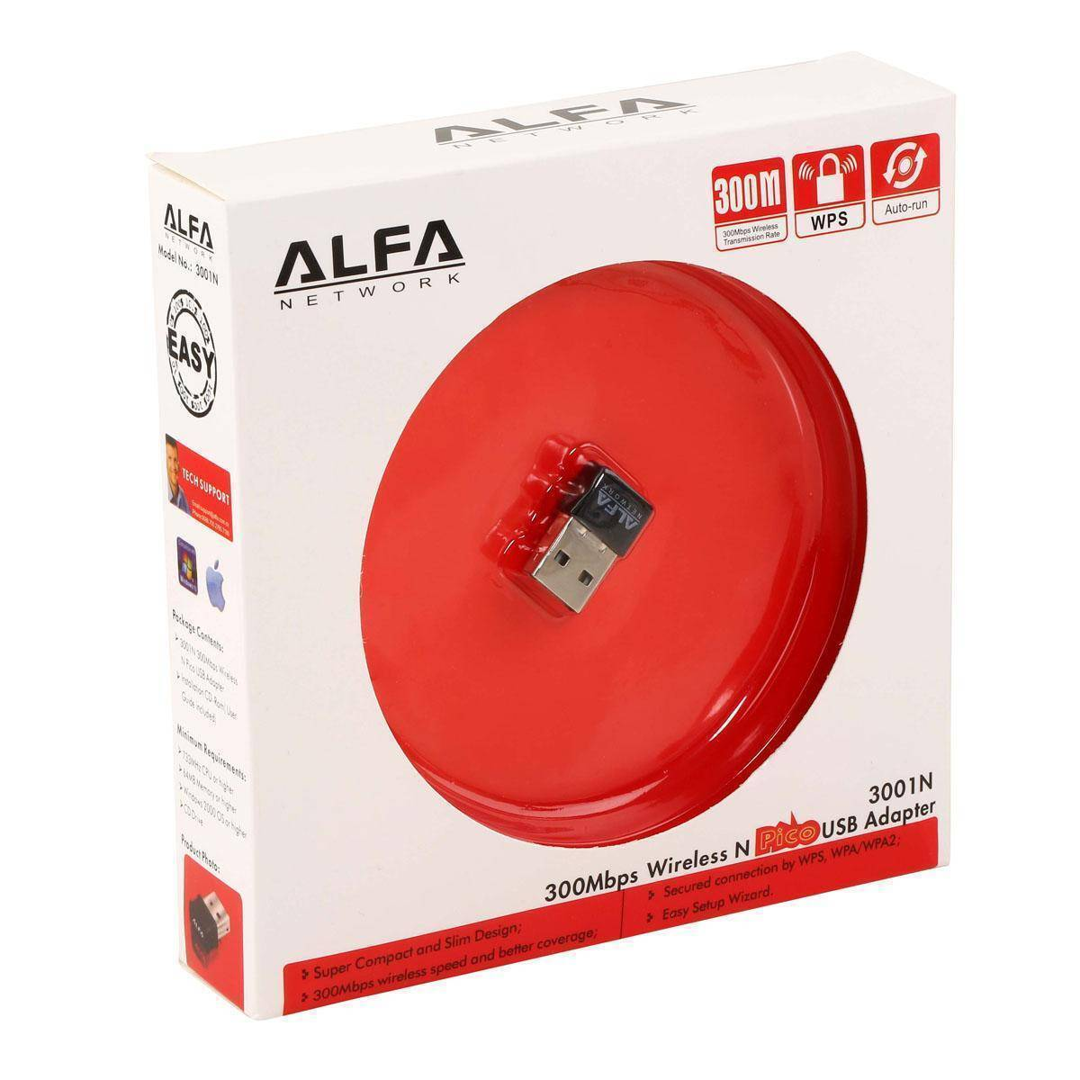 Alfa Network 300Mbps Wireless Adapter Black