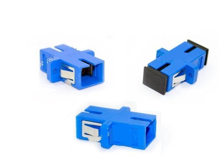 SC UPC Adapter Connector Simplex Single mode Plastic Fiber Optic Adapter/Connector