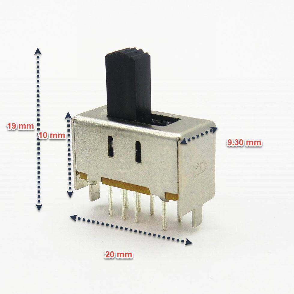 2 Pole 3 Position Slide Switch 8 Pin Lever Switch Handle High