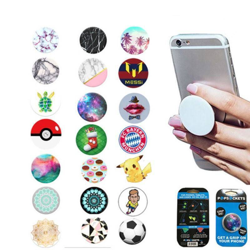Small Universal Phone Holder Expanding Stand Grip Pop Mount for Phone Tablet