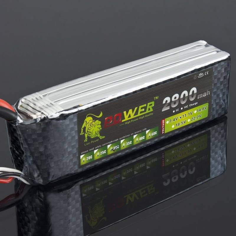 1 pcs Lion Power Lipo Battery 11.1 V 2800 Mah 35C MAX 50C T File for RC Car Airplane Align TREX 450 Helicopter In Pakistan