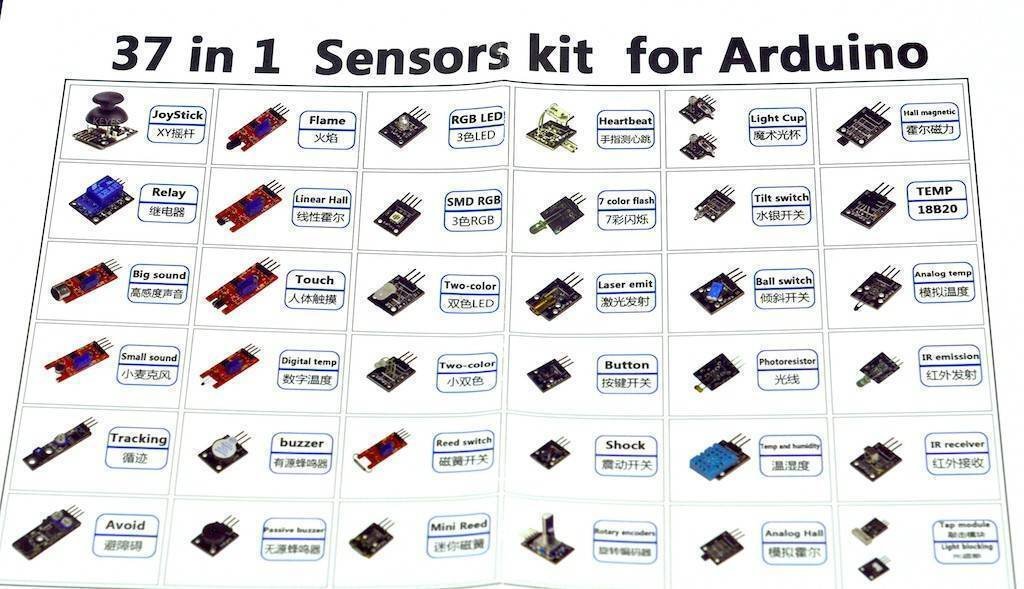 Arduino Sensor Kit in Pakistan 37 in 1 sensors kit for arduino in Pakistan