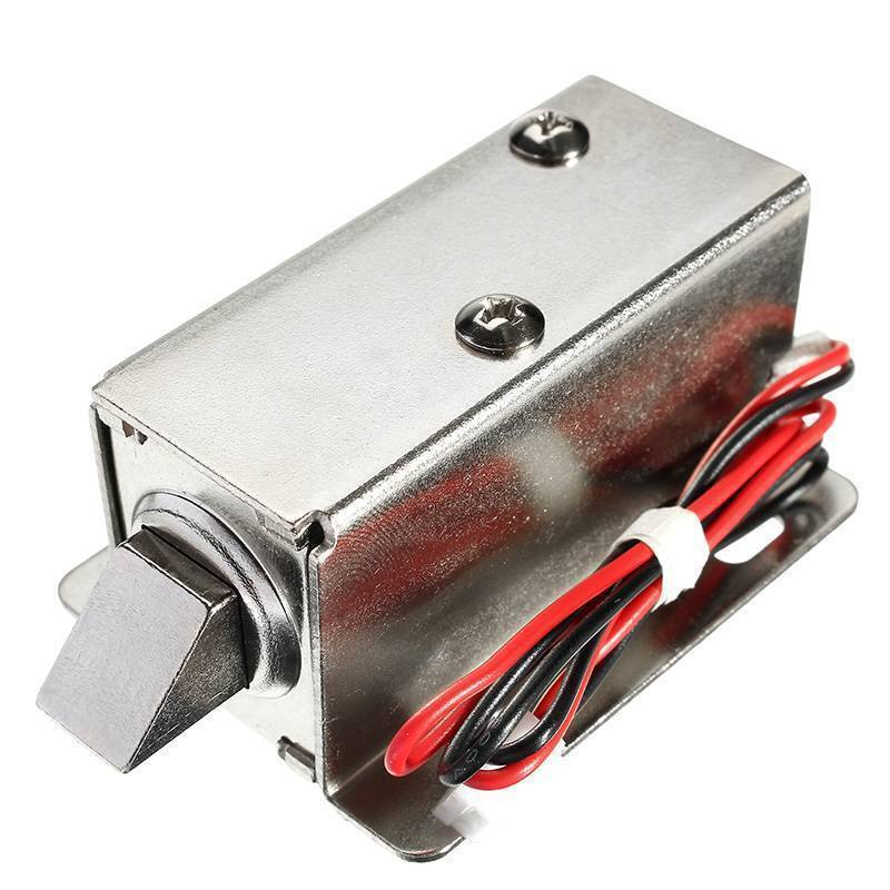12V DC 0.43A Cabinet Drawer Electric Door Lock Assembly Solenoid Lock
