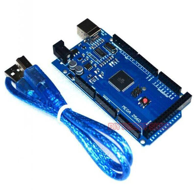 Arduino MEGA 2560 with Cable and Transparent Acrylic Case