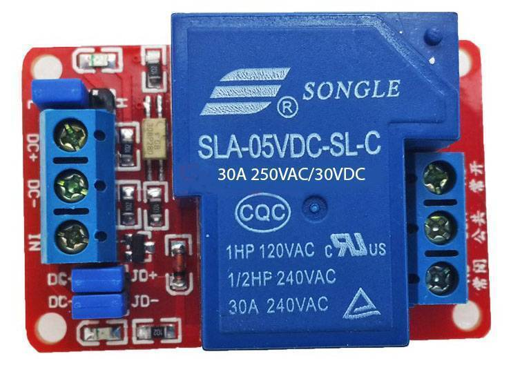 5V 30A 1-Channel Relay Module SLA-05VDC-SL-C