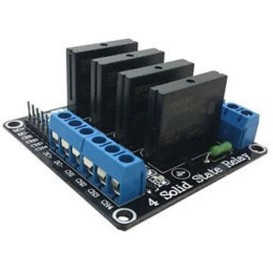 5V 4 Channel SSR G3MB-202P Solid State Relay Module 240V 2A