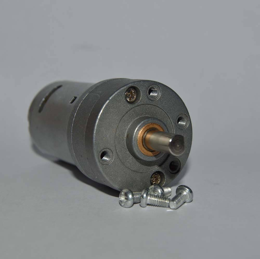 DC Gear Motor With Mounting Screws