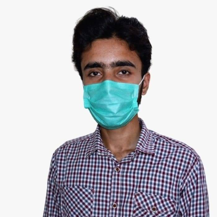 Surgical Disposable Face Mask With Nose Pin 50 Pcs
