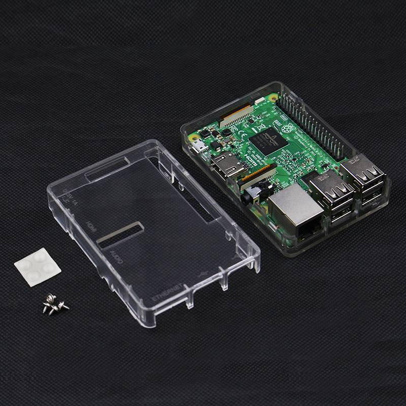 Clear Box Clear Case for Raspberry Pi Model 3 Model B and B+