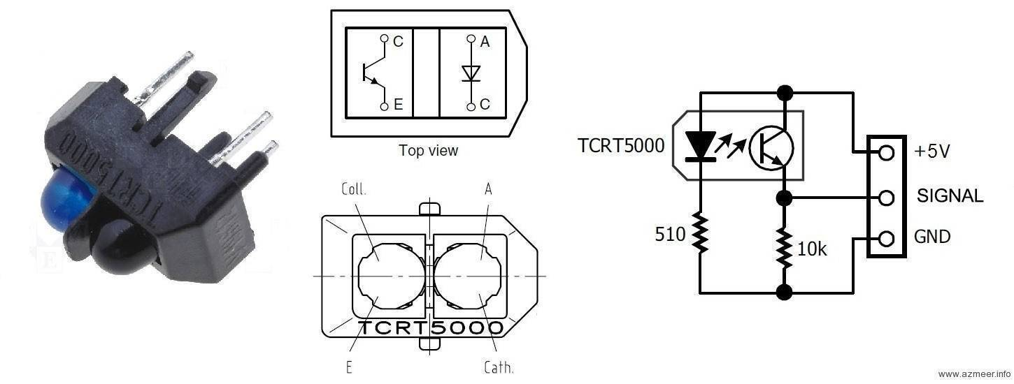 TCRT5000 Reflective IR sensor in Pakistan