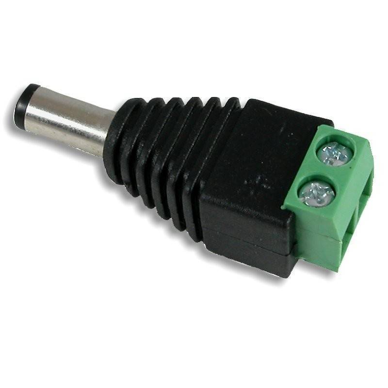 Male 2.1×5.5mm DC Power Plug Jack Adapter Wire Connector