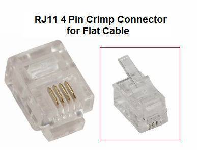 RJ11 4 pin Crimp Connector