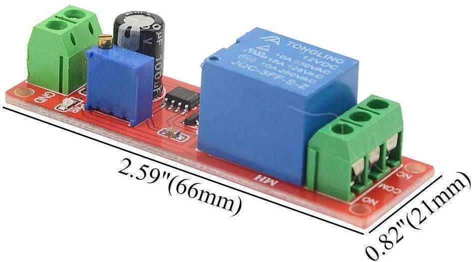 NE555 Timer Switch Adjustable Module Time delay relay Module DC 12V