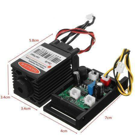 Focusable 3W or 3000mw 405nm Infrared IR Laser Diode Dot Module 12V+ TTL+ Fan Cooling Laser Module For CNC Engraving Machine