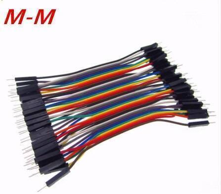 10Cm Pin To Pin Jumper Wire Dupont Line 40 Pin Male To Male Arduino Jumper Wires