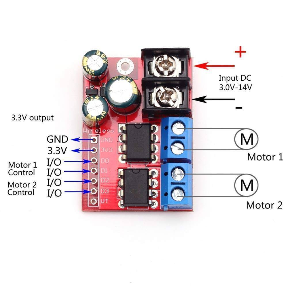 ZK 5AD Dual H Bridge Channel DC Motor Drive Controller Board Module Motor Commutation PWM Speed Regulator in Pakistan