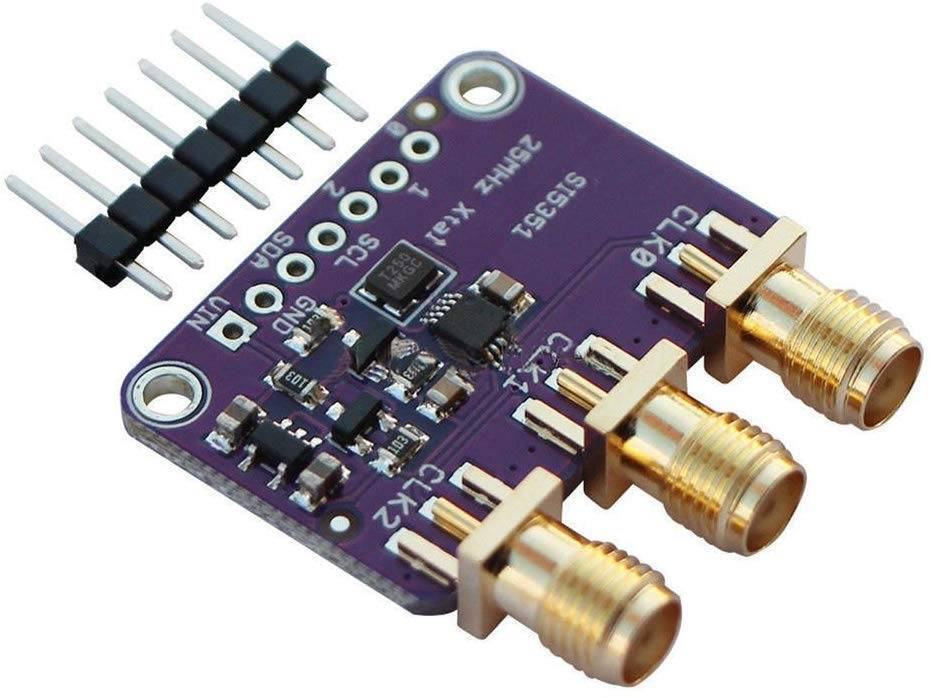 Si5351A I2C 25MHZ Clock Generator Breakout Board 8KHz to 160MHz for Arduino