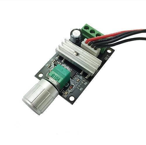 New PWM DC Motor Governor 6V 12V 24V 3A Speed Switch Positive And Negative With Switch Function In Pakistan