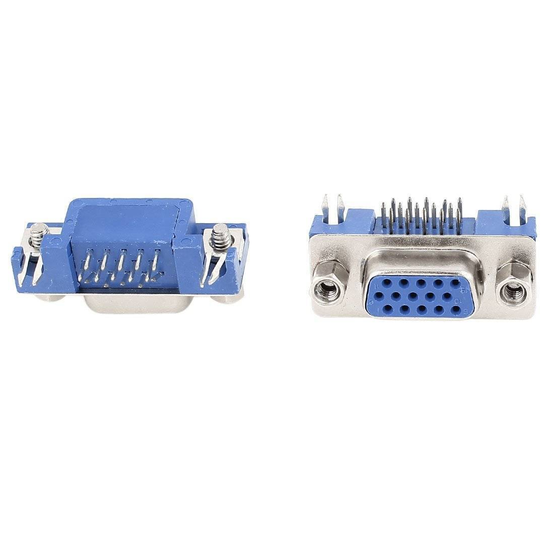 D-SUB 15 Pin Female Right Angle PCB Mounting VGA Connector in Pakistan