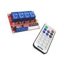 12v 4 Channel IR Infrared Remote Control Switch Relay Module Board Kit