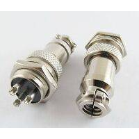 XLR 3 Pin Cable Connector 16mm Chassis Mount 3pin plug Adapter