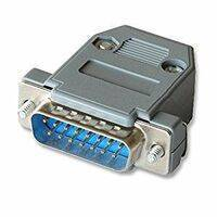 15 Pin Copper Plated VAG Serial Port Male Socket Adapter Connector DB15P