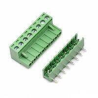 5.08 mm Pitch 8 Pin Right Angle PCB Mount Plug Able Terminal Block Connectors, Bent Screw Terminal