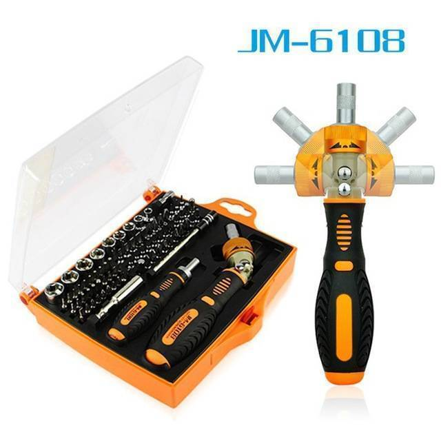 JM-6108 79 in 1 Screwdriver Ratchet Hand-tools Suite Furniture Computer Electrical maintenance Tools