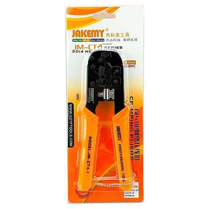 JM-CT4-1 6P 8P Ethernet Internet Cable Crimping Tool Wire Cutting Pliers tool kit Network repair hand tools
