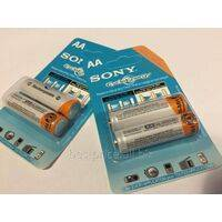 2 pcs Sony Ni-MH AA 1.2V 4600mAh Rechargeable Battery
