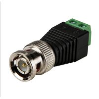 BNC Connector Two-wire BNC-free Solder Video Cable Adapter Network Video BNC Male Green End