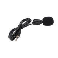 Clip-on Collar Mic Microphone - 3.5mm For DSLR Other Equipment Youtube - Black