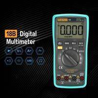 Digital Multimeter 18B True Tester RMS AC DC Volt Amp Ohm Capacitance LED Diode Frequency Meter Test 5999 Backlight Counts