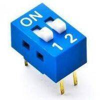 2 way Dip Switch Binary On Off 2 conductor switch