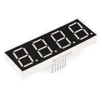 Common Anode 4 Digit 7 Segment Red LED Display
