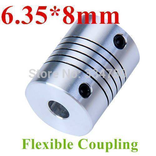 Flexible Coupling Shaft 6.35mmx8mm