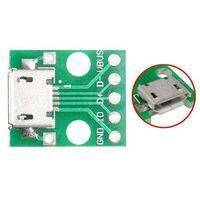 Female MICRO USB to DIP 5-Pin Bread Board Power Supply