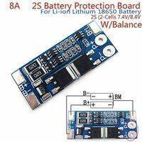 Battery Protection Board 2S 8A BMS For 18650 Lithium Ion Cells HX-2S-JH10