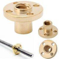 8mm T8x2 Trapezoidal ACME Shaft Lead Thread Rod Brass Screw Nut