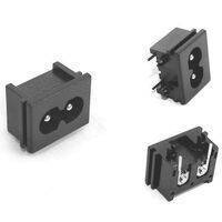 2.5A 250V Male Plug AC Power Socket Connector 23x18x13.3mm