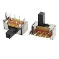 3 Pin 2 Position Panel Mount Micro Vertical Slide Switch High Knob