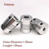5x6mm Flexible Coupling Shaft With 25mm Outer Diameter